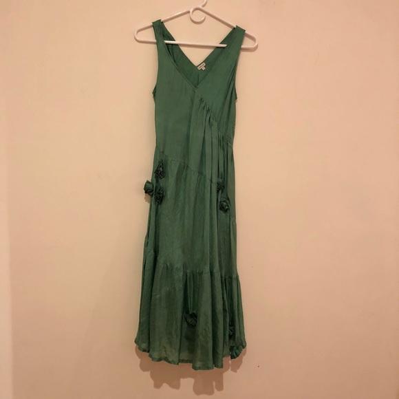a4ea86147f73 Chan Luu Dresses & Skirts - Chan Luu Silk Rose Embellished Dress